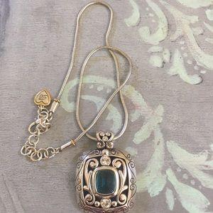 NWOT Brighton silver Swarovski crystal pendant